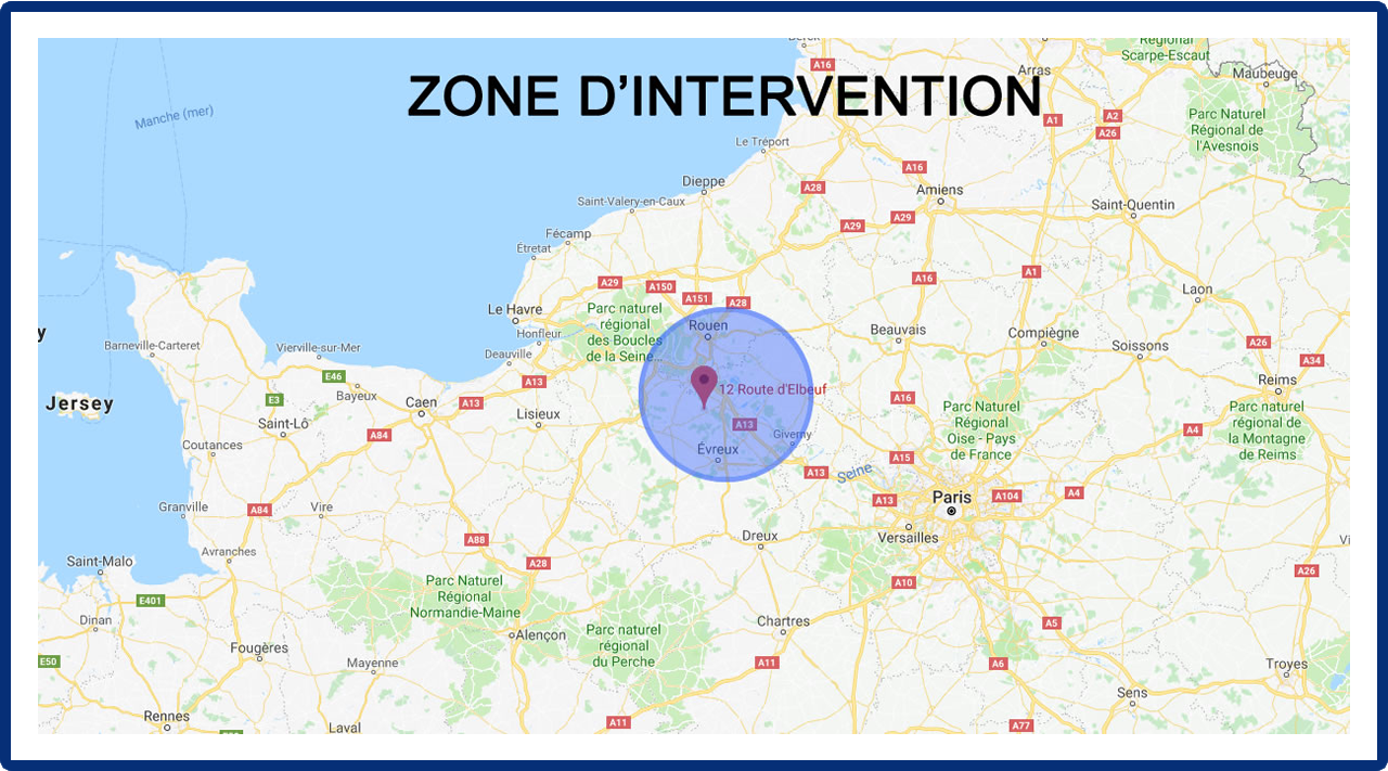 Zone d'intervention Rouen évreux